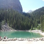 One of the lakes above Lake Louise