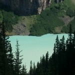 View of Lake Louise from above.
